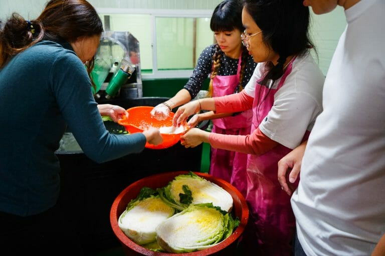 penang korean class uBitto korea field trip farmping farming camping korea fresh vegetables kimchi kimchi making  making kimchi