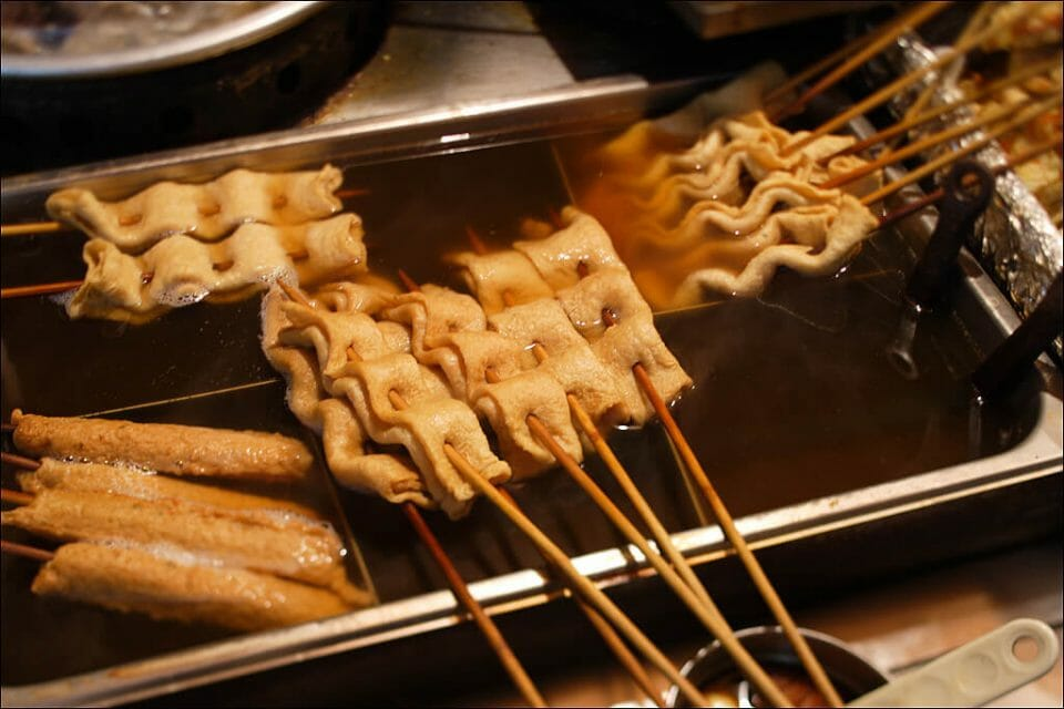 myeongdong street food south korea shopping korean shopping korean food odeng