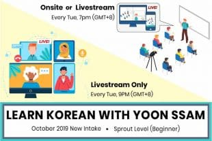 New Korean Intake Class for Beginners in Korean Language Starting This October 2019 18