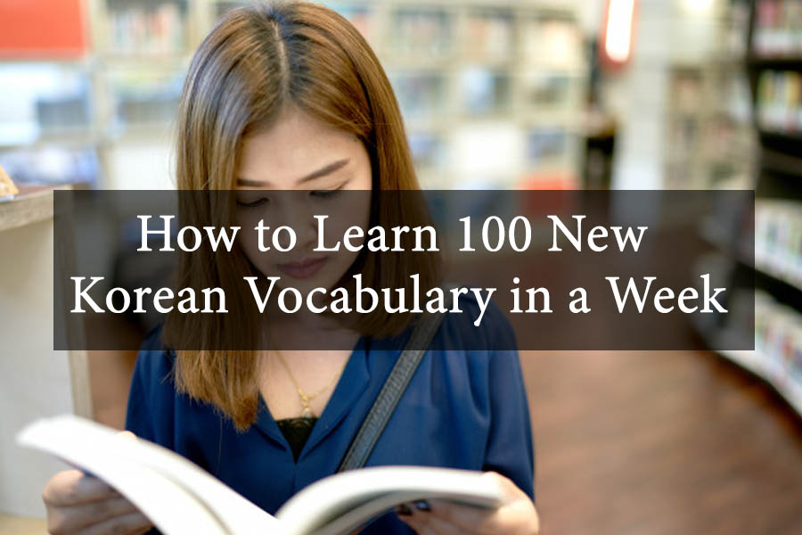 How to Learn 100 New Korean Vocabulary in a Week 13